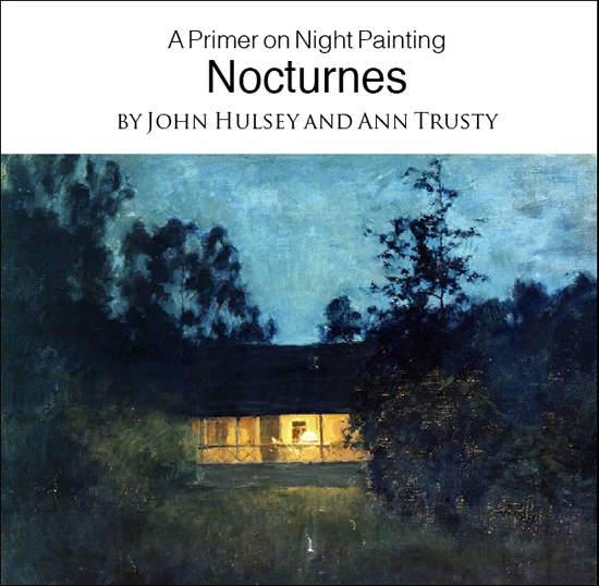 book cover painting nocturnes the artist's road