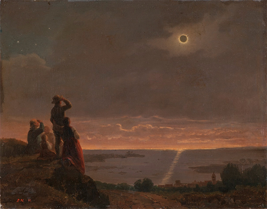 Painting of the Solar Eclipse, 1851, Brengt Nordenberg