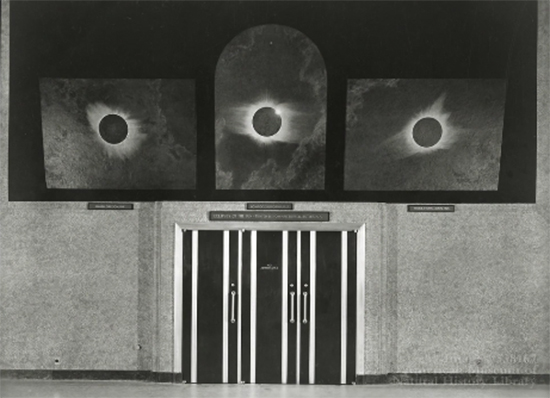 The Solar Eclipse Triptych at the Hayden Planetarium by Howard Russell Butler