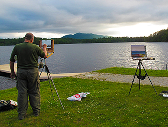 Plein Air Artist in the Adirondacks