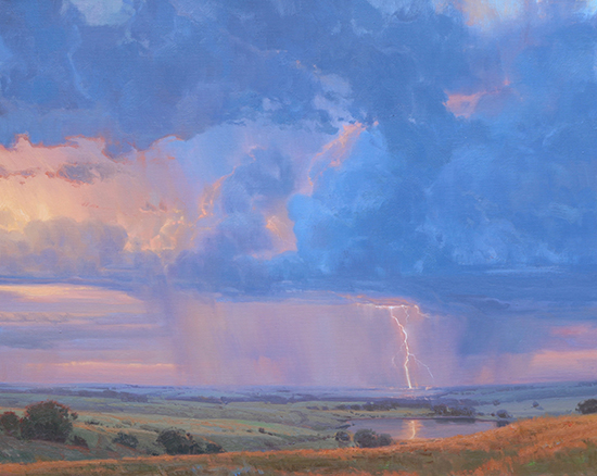 lightning strike on the plains © Michael Albrechtsen