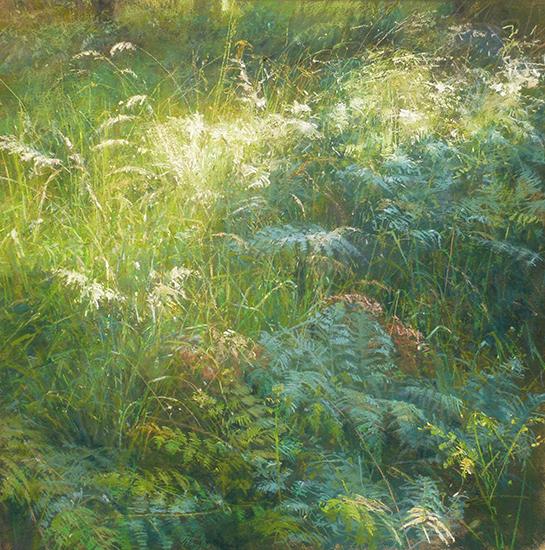 Le Nez dans l'Herbe, 70 70 cm, Pastel, © Sophie Amauger.