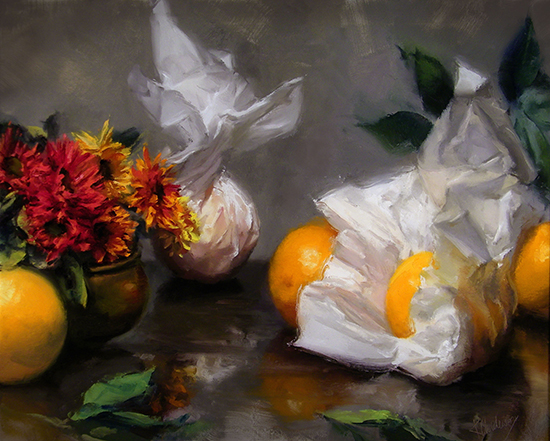 "Gifted Oranges, Oil, 24 x 30"", © Kurt Anderson"