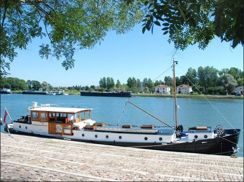 photo of river barge in France