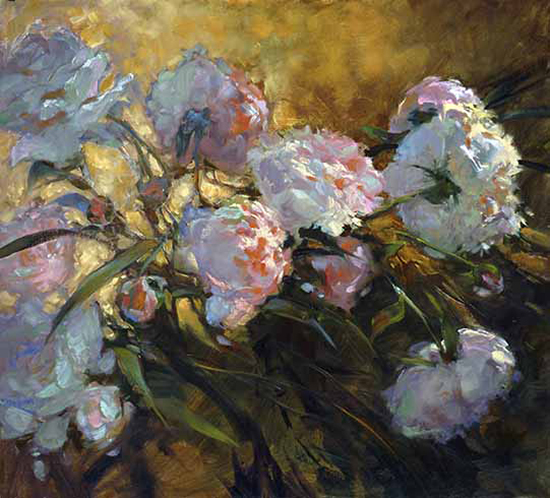 Her Favorite Flowers oil painting © Susan Blackwood
