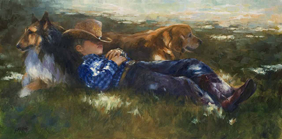 Wornout Buckaroo oil painting © Susan Blackwood