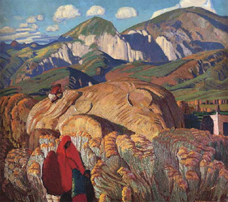 Haystack, Taos Valley, Painting by Ernest L. Blumenschein (fair use)