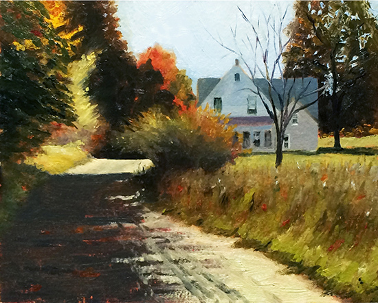 "Autumn Light, 8 x 10"", Oil, plein air, © Bruce Newman"