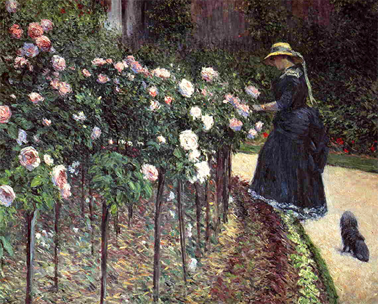 Oil Painting of the Gardens of the Artist, Gustave Caillebotte