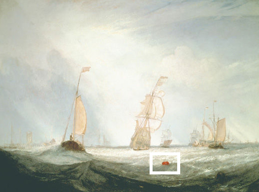 oil painting of sailboats, 1832 JMW Turner