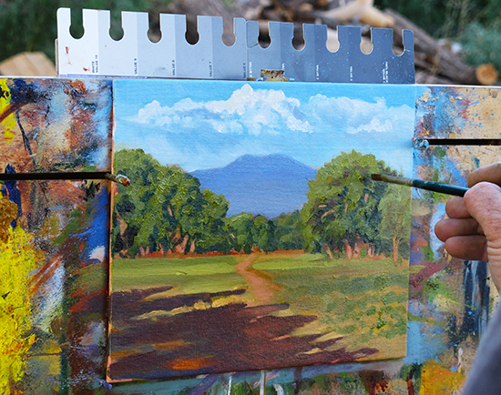 Photo of John Hulsey's plein air set up