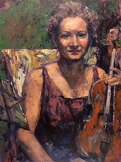 "Before the Concert, 24 x 18"", Oil, © Cynthia Rosen"