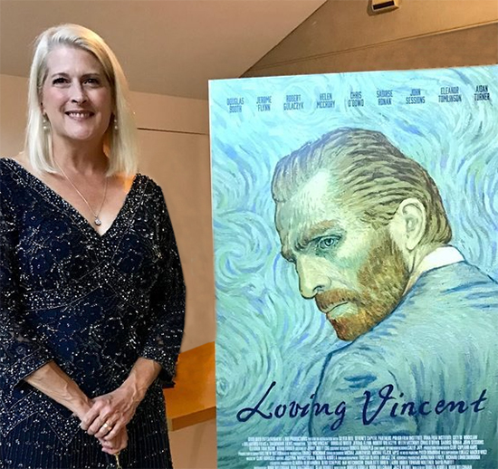 Dena Peterson with Loving Vincent Poster
