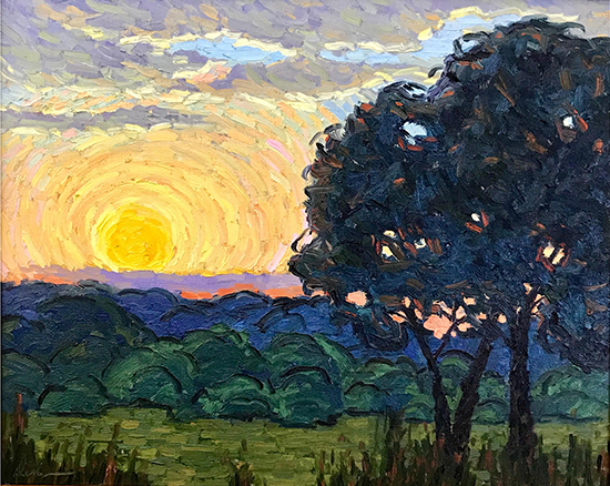 "Iowa Sunset, 16 x 20"", Oil, © Dena Peterson"