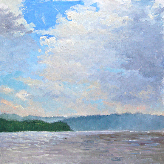 Oil painting of Hudson River by M. Stephen Doherty