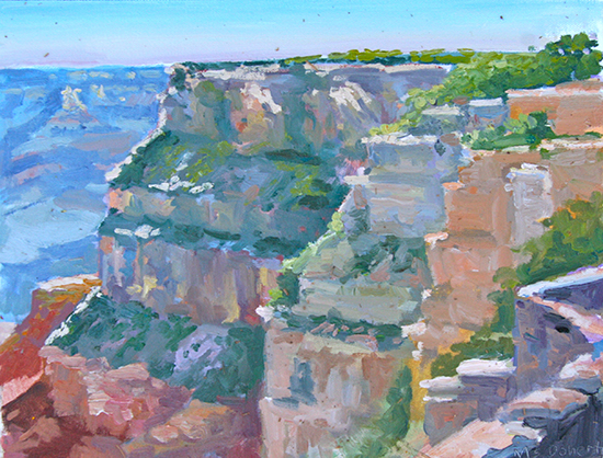 Oil painting of Grand Canyon by M. Stephen Doherty
