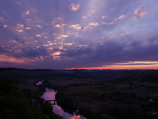 Photo of Sunset over the Dordogne River Valley, France, by John Hulsey