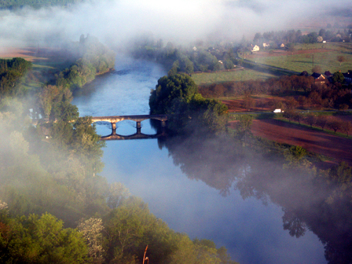 Photograph of Fog Lifting over Dordogne Valley, France, by John Hulsey