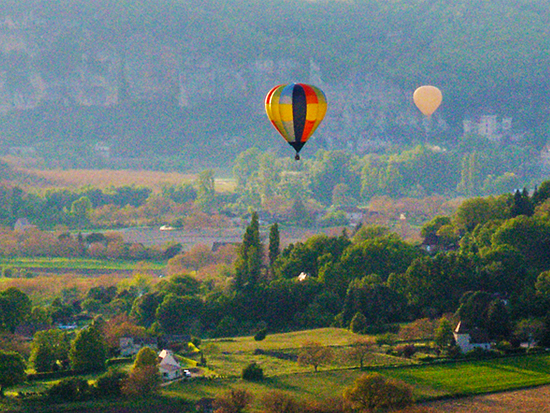 Photo of Hot Air Balloons over the Dordogne Valley, by John Hulsey