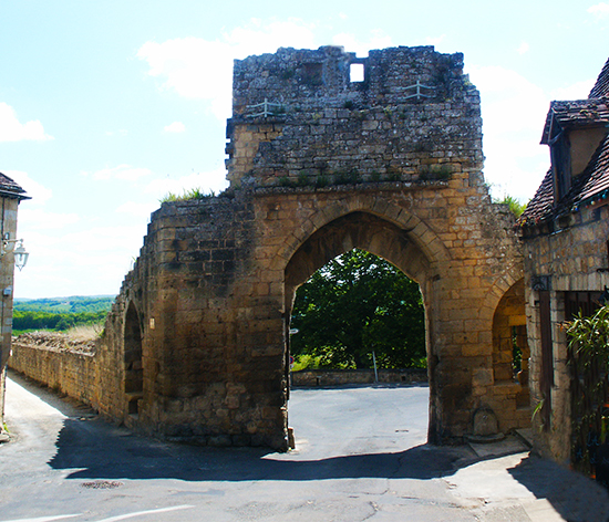 Photo of the Gate of the Knights Templar, Domme, France, by John Hulsey