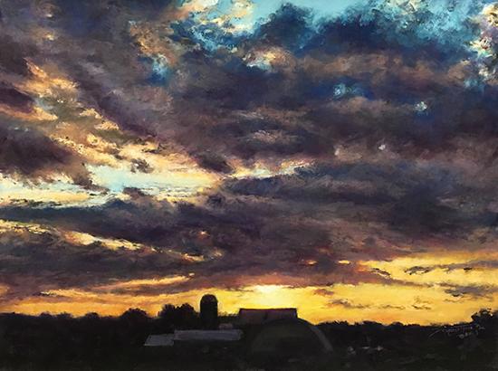 "Bright Hope for Tomorrow, 18 x 24"", Pastel, © Doreen St. John"