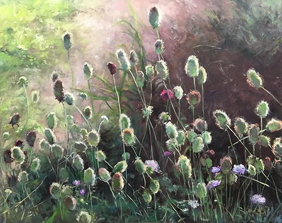 """Reaching for the Light, 24 x 30"""", Oil, © Doreen St John"""