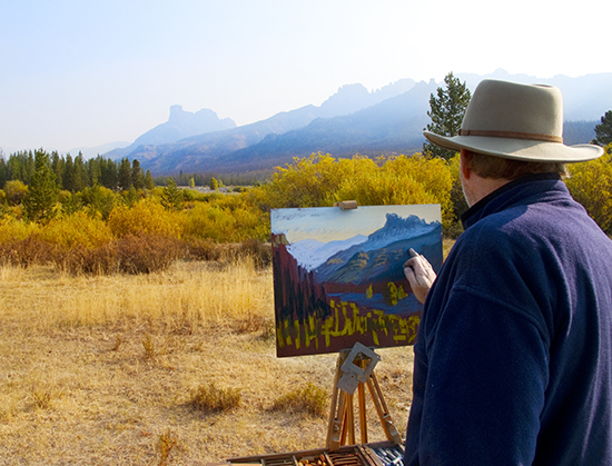 John Hulsey painting in Wyoming