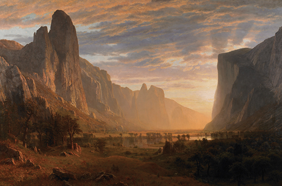 Looking Down Yosemite Valley by Albert Bierstadt
