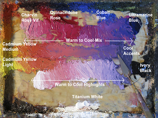 photo of Ann Trusty's oil palette