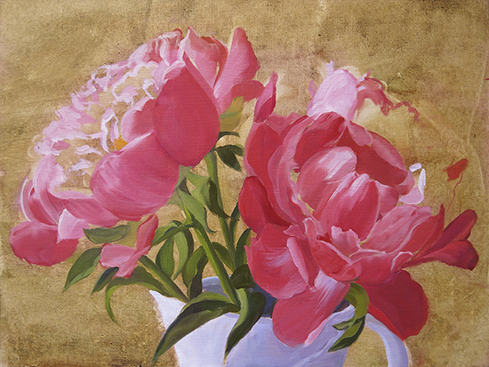 Ann Trusty peony painting demonstration