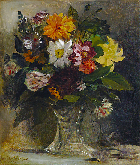 oil painting of flowers by Eugene Delacroix