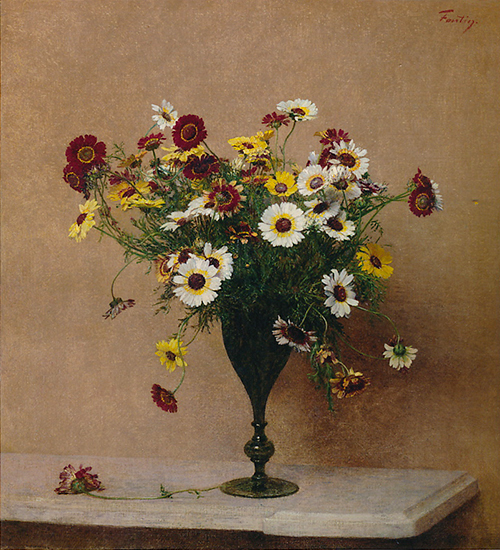 oil painting of flowers by Henri Fantin LaTour