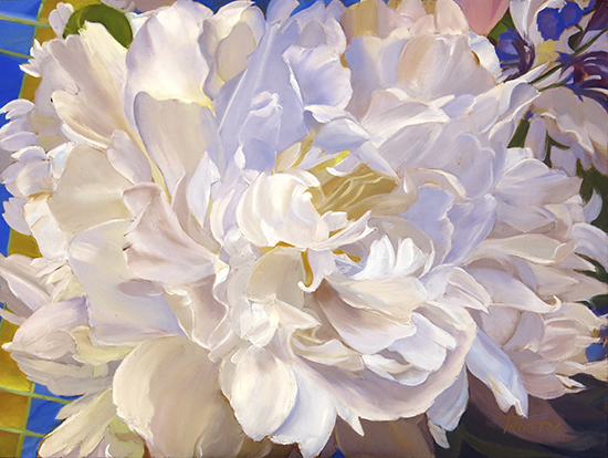 "Peony Close Up, 12 x 16"", Oil Painting © Ann Trusty"
