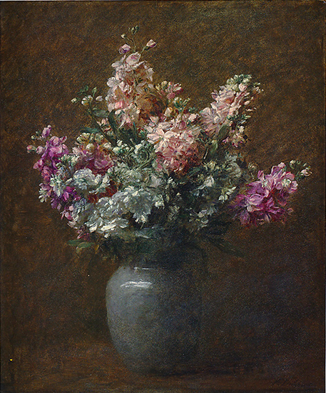 oil painting of flowers by Victoria Dubourg Fantin - LaTour