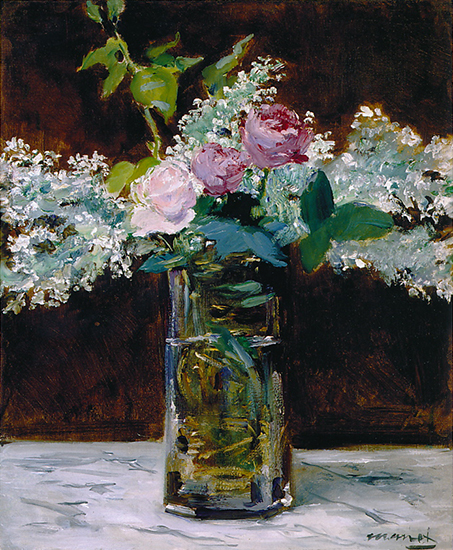 oil painting of flowers by Edouard Manet