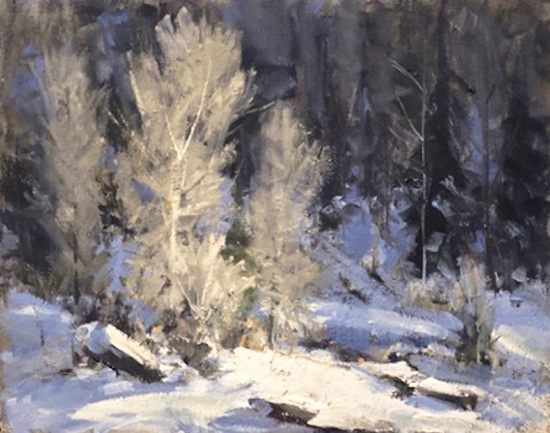 Oil Painting of a Snowy Landscape © Kaye Franklin