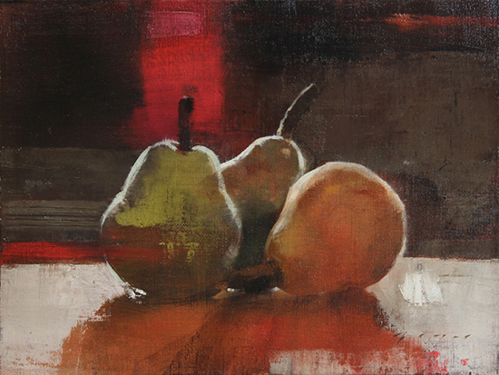 Still Life Oil Painting of Pears by Douglas Fryer