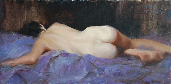 "Violet Dreams, 12 x 24"", Oil, © Stuart Fullerton"