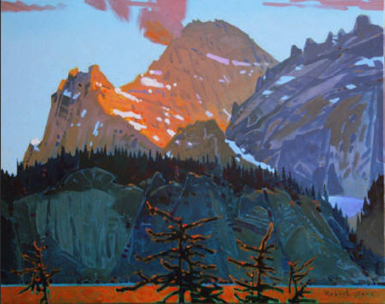Acrylic Painting of Canadian Mountains by Robert Genn