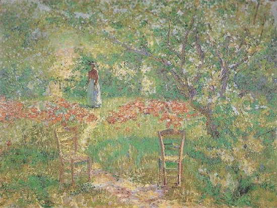 Giverny Garden, 1890, painting by Philip Leslie Hale