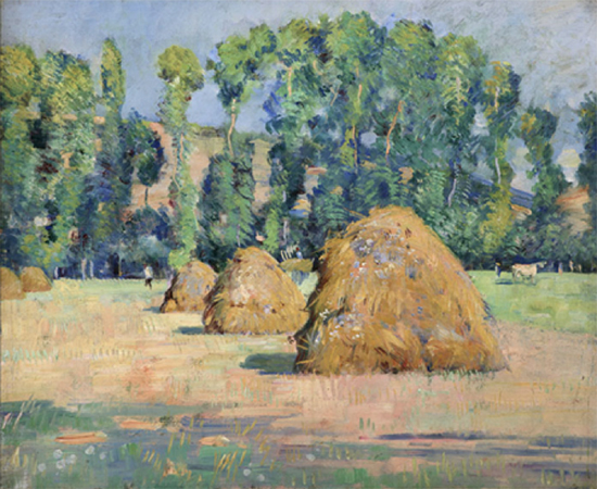 Giverny Haystacks, 1887, painting by Theodore Wendel