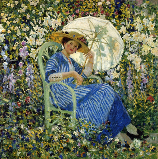 In the Garden, 1910, painting by Frederick Carl Frieseke