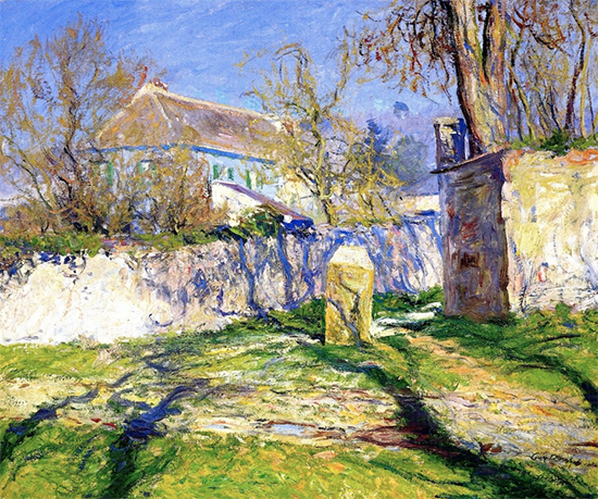 La Maison Bleue, 1910, painting by Guy Rose