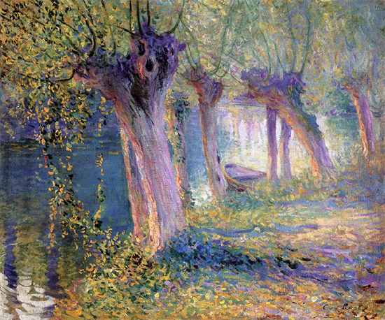 oil painting of River Epte, Giverny, France by Guy Rose