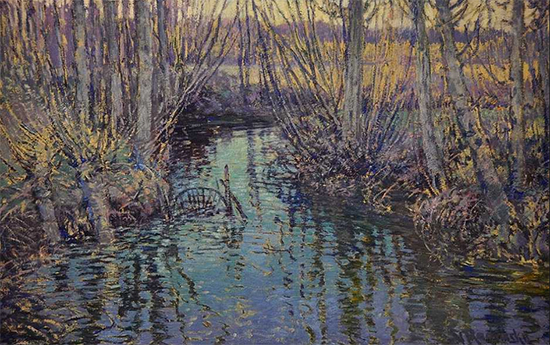 Small River at Giverny, 1899, painting by Vaclav Radimsky