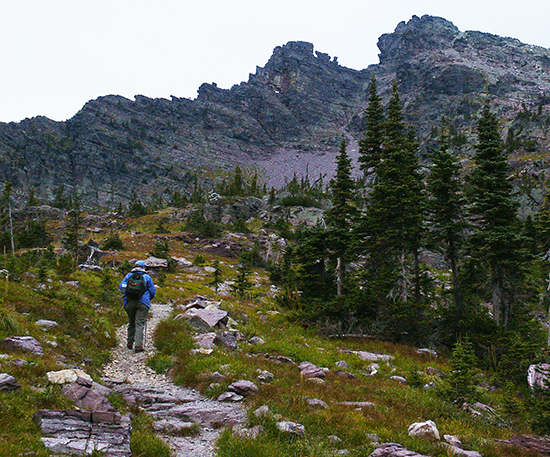 Photo of Gunsight Pass Trail, Glacier National Park, Mt., by John Hulsey