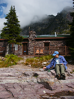 Photo of Dining Hall at Sperry Chalet, Glacier National Park, Mt, by John Hulsey