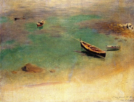 Boat in the Water off Capri, 1878, John Singer Sargent