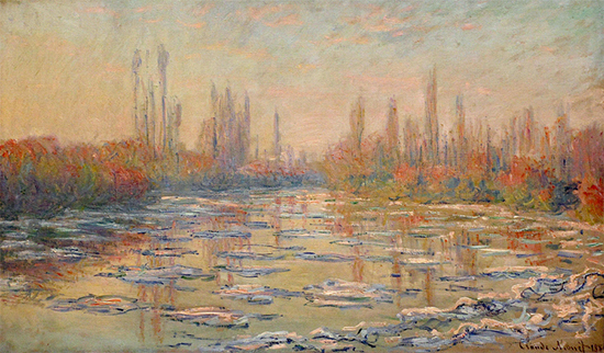 Floating Ice on the Seine, 1880, Claude Monet