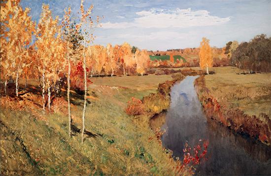 Golden Autumn, 1895, Isaac Levitan